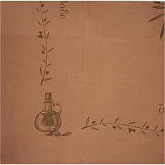 Τραπεζομάντηλο κραφτ με σχέδιο ελιά 1x1m (200τεμ.)