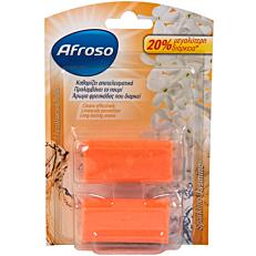 Αποσμητικό τουαλέτας AFROSO block sparkling jasmine, ανταλλακτικό (2τεμ.)