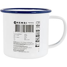 Κούπα εμαγιέ HENDI λευκό με μπλε rim 36cl