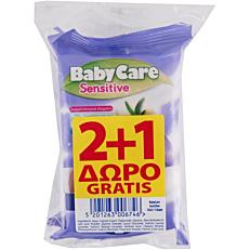 Μωρομάντηλα BABYCARE Mini με εκχύλισμα αλόης (3x12τεμ.)