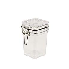 Μπολ με καπάκι, τετράπλευρα διαφανή 6,9x5x5cm 110ml (10τεμ.)