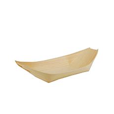 Μπολ, βαρκάκια ξύλινα 19x10cm (50τεμ.)