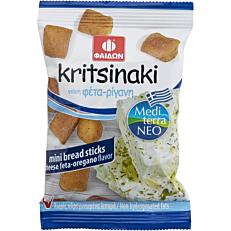 Κριτσινάκι ΦΑΙΔΩΝ mini bread sticks με γεύση φέτα-ρίγανη (40g)