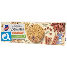 Μπισκότα ΑΛΛΑΤΙΝΗ με 3 δημητριακά ολικής άλεσης με σταφύλι και κανέλα (220g)