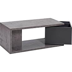 Τραπεζάκι σαλονιού honeycomb, cement σκούρο γκρι 110x50x44