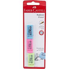 Γόμα FABER-CASTELL dust free χρωματιστή