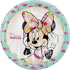 Πιάτα χάρτινα με σχέδιο Minnie Tropical 23cm (8τεμ.)