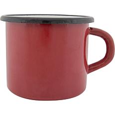 Κούπα εμαγιέ κόκκινο 12,5X8,5cm