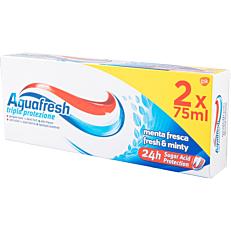 Οδοντόκρεμα AQUAFRESH fresh and minty (2x75ml)