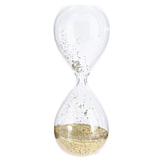 Κλεψύδρα γκλίτερ χρυσό 20cm