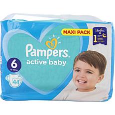 Πάνες PAMPERS active baby Maxi Pack No.6 (44τεμ.)