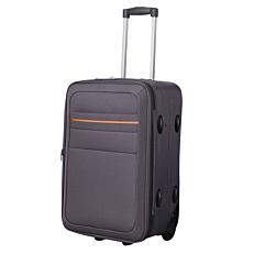 Βαλίτσα TONYA με 2 τροχούς γκρι πορτοκαλί 53x63x20cm