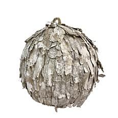 Χριστουγεννιάτικη μπάλα με φλούδα λευκή - μπέζ 10cm
