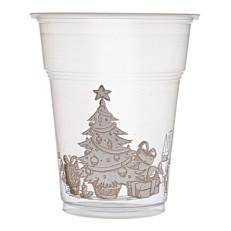 Ποτήρια πλαστικά διάφανα χριστουγεννιάτικο δέντρο 300ml (50τεμ.)