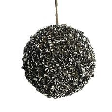 Χριστουγεννιάτικη μπάλα διακοσμητική καφέ με μικρά αστεράκια κρεμαστή 10cm