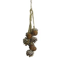 Κρεμαστή διακοσμητική γιρλάντα με κουκουνάρια 49cm