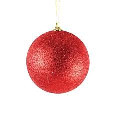 Χριστουγεννιάτικη μπάλα polyfoam κόκκινη με γκλίτερ 10cm