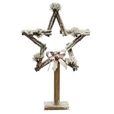 Ξύλινο αστέρι με φως 15 led 55cm