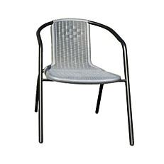 Καρέκλα steel τύπου rattan γκρι 55x59x72cm