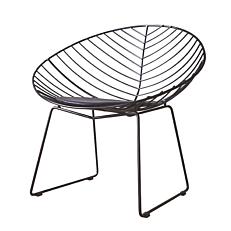 Πολυθρόνα αλουμινίου με μαύρο μαξιλάρι 56x59x77cm