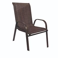 Πολυθρόνα με καφέ textilene και καφέ σκελετό