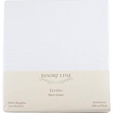 Σεντόνι RESORT LINE βαμβακερό λευκό 240x270cm