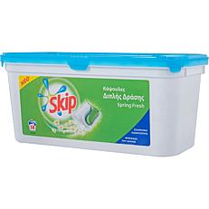 Απορρυπαντικό SKIP duo spring fresh πλυντηρίου ρούχων, υγρές κάψουλες (38τεμ.)