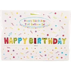 Μπαλόνι foil happy birthday (1τεμ.)