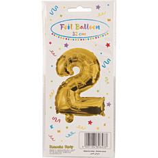 Μπαλόνι foil χρυσό Νο.2 (1τεμ.)