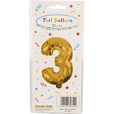 Μπαλόνι foil χρυσό Νο.3 (1τεμ.)