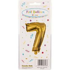 Μπαλόνι foil χρυσό Νο.7 (1τεμ.)