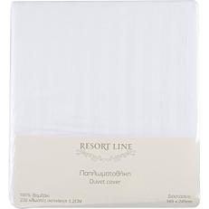 Παπλωματοθήκη RESORT LINE βαμβακερή σατέν, λευκή 165x245cm