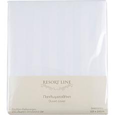 Παπλωματοθήκη RESORT LINE 48% βαμβακερή, 52% πολυεστέρα, λευκή 225x245cm