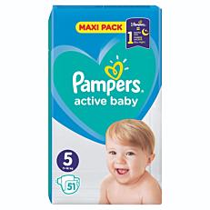 Πάνες PAMPERS active baby Maxi Pack No.4, 15kg+ (53τεμ.)