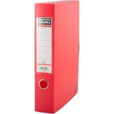 Κουτί αρχειοθέτησης SKAG PP με κούμπωμα 6cm κόκκινο
