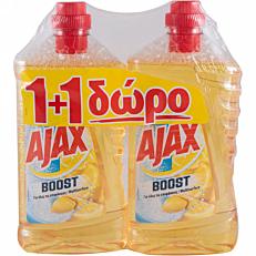 Καθαριστικό AJAX boost για το πάτωμα μαγειρική σόδα και λεμόνι, υγρό 1+1ΔΩΡΟ (2x1lt)