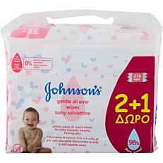 Μωρομάντηλα JOHNSON'S Baby Gentle All Over (3x72τεμ.)