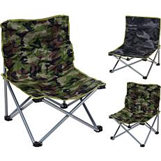 Καρέκλα camping σπαστή σε 2 χρώματα 44x44x23/55cm
