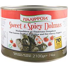 Κονσέρβα ΠΑΛΙΡΡΟΙΑ ντολμαδάκια γιαλαντζί sweet & spicy (2kg)