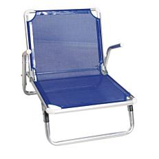 Καρέκλα παραλίας σκούρο μπλε 61x55x546cm