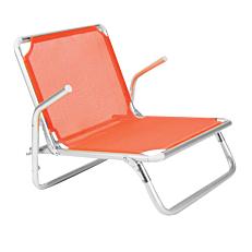 Καρέκλα παραλίας πορτοκαλί 61x55x546cm