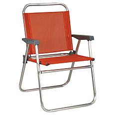 Πολυθρόνα παραλίας αλουμινίου πτυσσόμενη πορτοκαλί 52x56x80cm