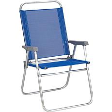 Πολυθρόνα παραλίας αλουμινίου πτυσσόμενη μπλε 65x56x92cm