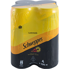 Αναψυκτικό SCHWEPPES lemonade (4x330ml)