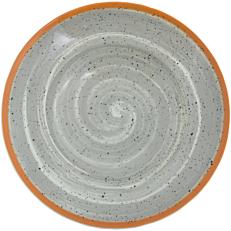 Πιάτο πορσελάνης PASTA gray spiral 27cm