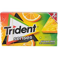 Τσίχλες TRIDENT senses τροπικά φρούτα (27g)