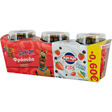 Γιαούρτι επιδόρπιο ΚΡΙ ΚΡΙ kids με γεύση φράουλα -0,60€ (3x150g)