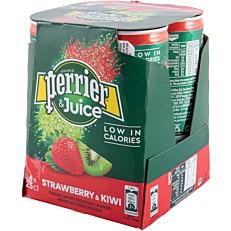 Νερό PERRIER ανθρακούχο φράουλα και ακτινίδιο (4x250ml)