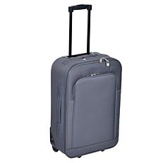 Βαλίτσα WELLS soft με 2 τροχούς γκρι 69x42x22cm