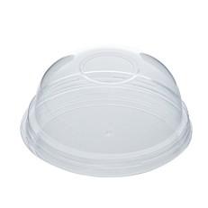 Καπάκια πλαστικά eco-friendly διαφανή πομπέ (100τεμ.)